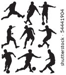 group soccer player | Shutterstock . vector #54441904