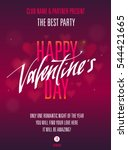 happy valentines day party... | Shutterstock .eps vector #544421665