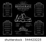 placemat design template ... | Shutterstock .eps vector #544423225