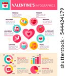 valentines day infographics.... | Shutterstock .eps vector #544424179