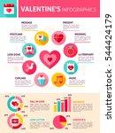 valentines day infographics.... | Shutterstock .eps vector #544424179