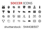 simple modern set of soccer and ... | Shutterstock .eps vector #544438507
