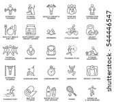 modern icons set of fitness ... | Shutterstock .eps vector #544446547
