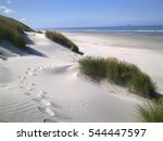 view between two dunes  grown... | Shutterstock . vector #544447597