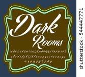 script font typeface dark rooms ... | Shutterstock .eps vector #544447771