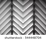backlit louvered   lath ceiling ... | Shutterstock . vector #544448704