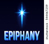 epiphany day poster. vector ... | Shutterstock .eps vector #544467259