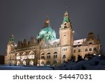 Stock photo winter view of neus rathaus hannover the new town city hall 54447031
