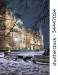 Stock photo winter view of neus rathaus hannover the new town city hall 54447034
