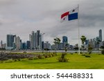skyline of panama city with...   Shutterstock . vector #544488331