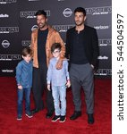 Small photo of LOS ANGELES - DEC 10: Ricky Martin, MAtteo Martin, Valentino Martin and Jwan Yosef arrives to the 'Rogue One: A Star Wars Story' World Premiere on December 10, 2016 in Hollywood, CA