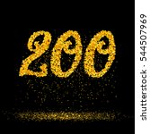 beautiful card with number 200... | Shutterstock .eps vector #544507969