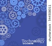 technology background with gear ... | Shutterstock .eps vector #544508011