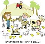 cartoon of smiling family on...   Shutterstock .eps vector #54451012