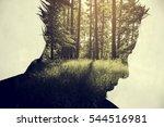 creative double exposure... | Shutterstock . vector #544516981