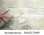 present with love valentine's... | Shutterstock . vector #544517449
