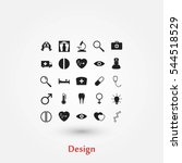 medical icons  flat design best ... | Shutterstock .eps vector #544518529