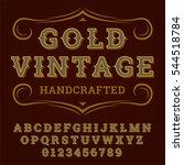 vector golden western vintage... | Shutterstock .eps vector #544518784