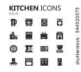 simple modern set of kitchen... | Shutterstock .eps vector #544520575