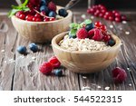 homemade muesli with berry and... | Shutterstock . vector #544522315