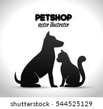 pet shop poster dog and cat... | Shutterstock .eps vector #544525129
