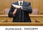 portrait of a politician ... | Shutterstock . vector #54452899