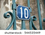 building's private entry with... | Shutterstock . vector #544535449