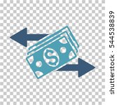 dollar banknotes payments icon. ... | Shutterstock .eps vector #544538839