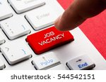 Stock photo job vacancy word concept button on keyboard 544542151
