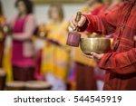 Man Playing On A Tibetian...