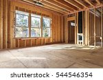 interior frame of a new house... | Shutterstock . vector #544546354