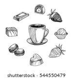 hand drawn vector illustration  ... | Shutterstock .eps vector #544550479