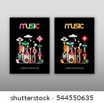 music poster template   vector...