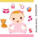 baby girl | Shutterstock .eps vector #54455359