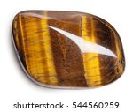Tiger's Eye Stone Isolated On...