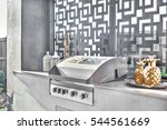 gas grill cabinet closeup of a... | Shutterstock . vector #544561669