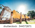 temple of ayutthaya history of... | Shutterstock . vector #544572871