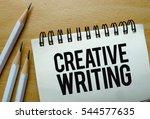creative writing text written... | Shutterstock . vector #544577635