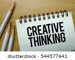 creative thinking text written... | Shutterstock . vector #544577641