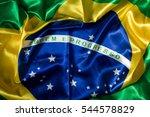detail of brazilian flag... | Shutterstock . vector #544578829