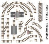 Vector Illustration Of Railway...