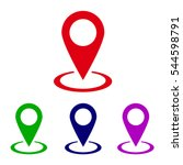 location icon vector | Shutterstock .eps vector #544598791