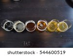 beer sampler on wooden table | Shutterstock . vector #544600519