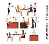 set of cartoon characters... | Shutterstock . vector #544609831