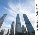 shanghai high   rise building | Shutterstock . vector #544611259