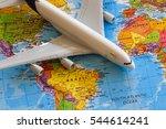 plane on world map | Shutterstock . vector #544614241