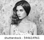 portrait of young beautiful... | Shutterstock . vector #544614961