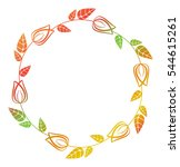 beautiful round floral frame... | Shutterstock . vector #544615261