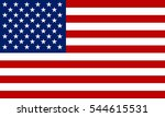 usa flag. vector image of usa... | Shutterstock .eps vector #544615531