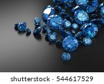blue diamonds placed on black... | Shutterstock . vector #544617529